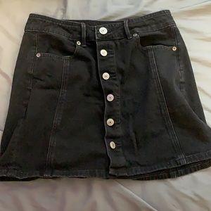Black Denim Skirt - Size 4